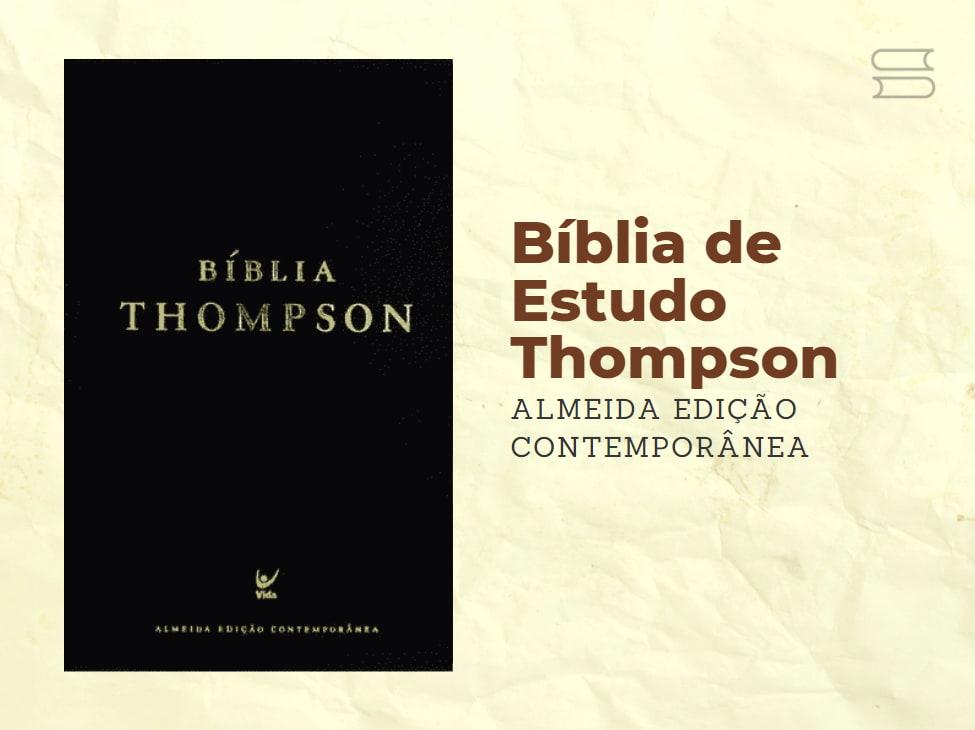 livro biblia de estudo thompson contemporanea