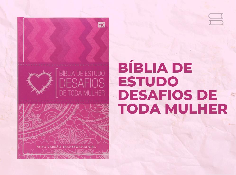 livro biblia de estudo desafios de toda mulher