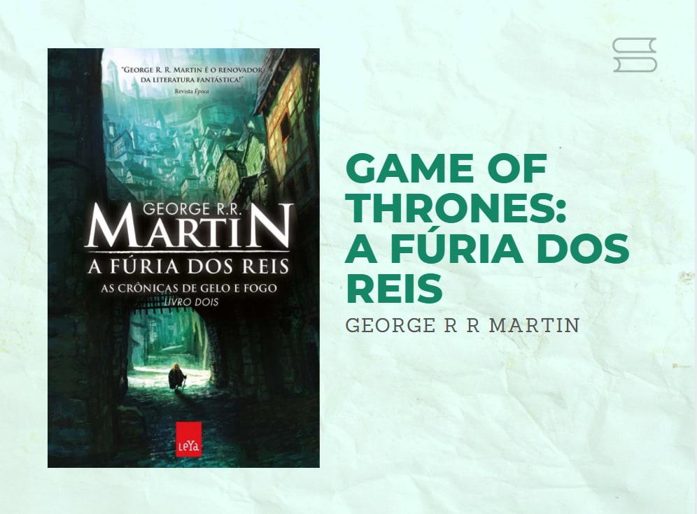 livro game of thrones a furia dos reis