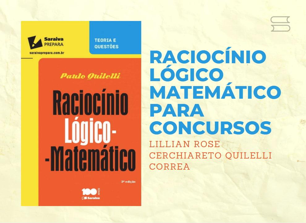 livro raciocinio logico matematico para concursos
