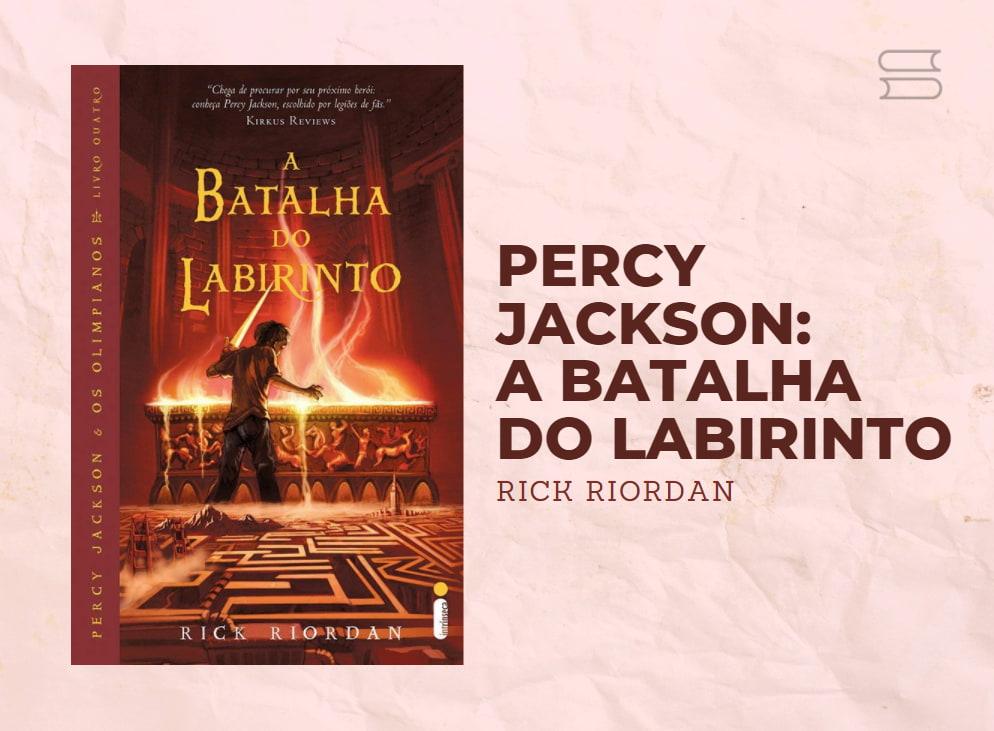 livro percy jackson a batalha do labirinto