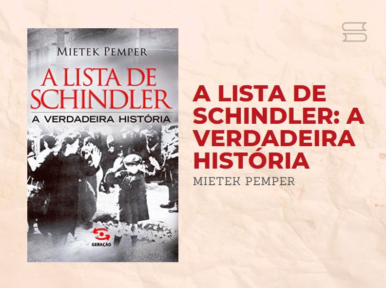livro a lista de schindler
