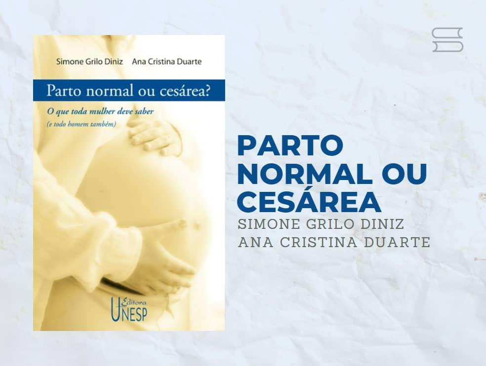 livro parto normal ou cesarea