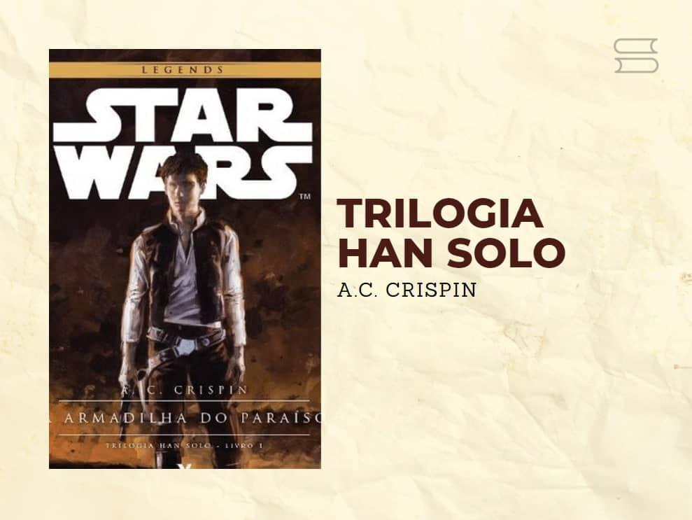 livro trilogia hans solo